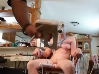 White painslut Monawantmore tied and beaten as hubby watches