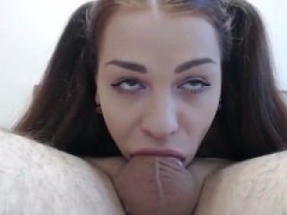 Brunette endless deepthroat without taking a breath