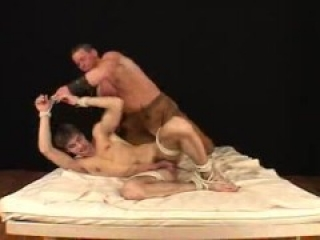 Straight twink is abused for gay bdsm photoshoot