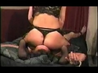 Femdom wife rides tied husband and forces creapie eating