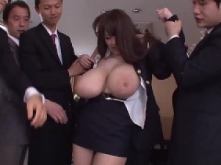 Hitomi's blouse if ripped open revealing her massive tits