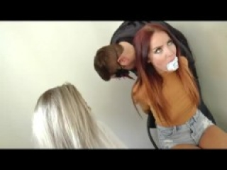 Brooke and Miss Scarlett - Wrapped up in duct tape