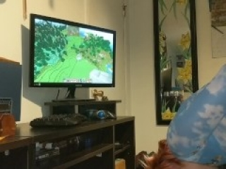 Sexy GF gets tied up and bent over while I play Minecraft