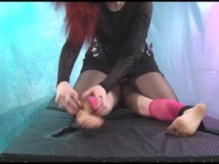 "Ballerina Tickle Torture ""Please stop Evil Woman!"" w/Domina Skye & The Mystery Hands Pt 4"