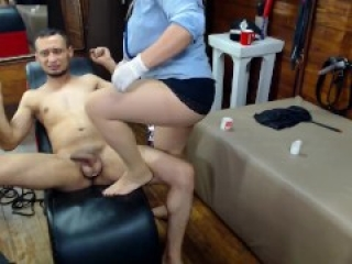CBT ( Cock And Balls Torture )she bite his balls