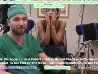 $CLOV Big Tit Journalist Maya Farrell Committed For Hysteria Treatments By Doctor Tampa Gloved Hands