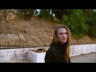 Beautiful submissive Ashley Lane enjoys poetry and piss in the California sunset