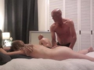 Hot anal session tied down smacked & DP foreplay before her ass gets pounded & creampied - MIN MOO