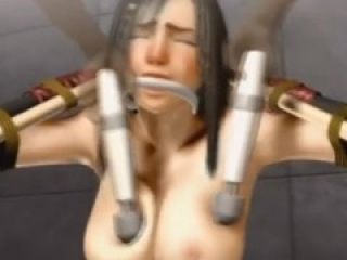 3D uncesored big tits babe is fucked by machine and big cock