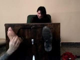 Goth girl feet tied tickled