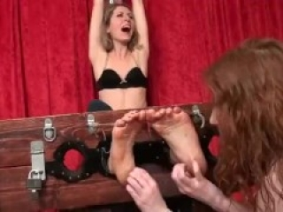 Woman Gets Tickled In Stocks