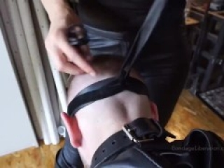 Mistress tortured anal slave hogtied