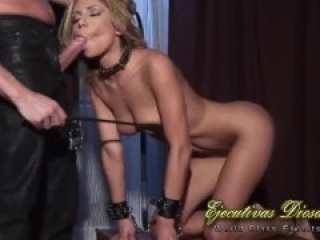 Bondage foray for a sexy slave