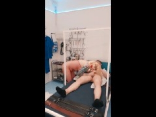 Blonde Tattooed Milf nurse fucks patient in red stockings (onlyfans link in bio for more content)