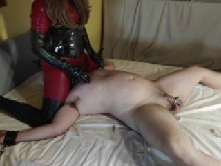 Cruel Leather Mistress In Catsuit - CBT, Facesitting, Breathplay, Ruined Orgasms & Torture