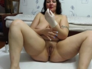 Hot Deep Joint Fisting With Medical Gloves Mature Couple Busty Milf