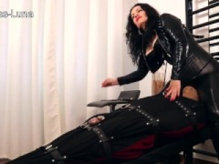 Bound and teased facesitting ruined orgasm femdom