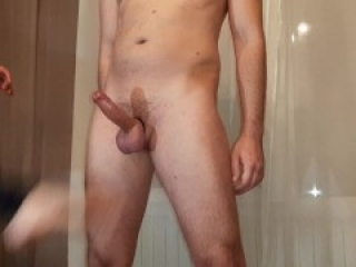 Omg, i kick him in the balls, and he cums all over himself! lol Ballbusting