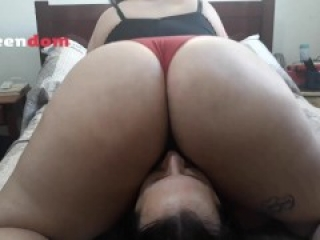 BBW Facesitting and ass smothering compilation