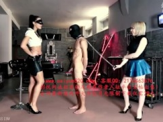 Mistress gaia Training Our Dog ballbusting ballkicking 欧洲双女王踢裆舔脚恋足调教踢蛋蛋