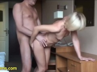 My rough sex with cute horny blonde milf