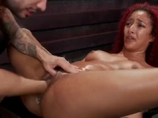 Helpless ebony squirts multiple times