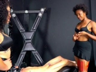 Fart Torture -Puerto Rican Domina and Black Domina Fart Torture A Slave