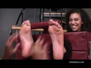 Sexy girl tickled