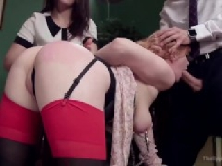 FFM Slave Compilation - submissive sluts trained, used and punished in these maledom threesomes