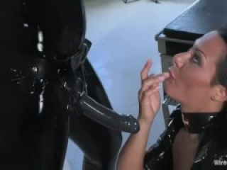Submissive Slut In Latex Gets Her Wish - WP