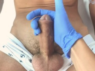 my little doctor teases and jerks off a big cock / let me cum close up / zoom handjob