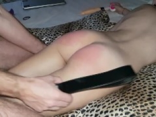 Skinny girl spanking punishment leads to multiple orgasms