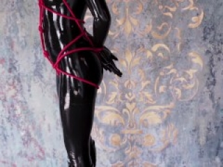 Ballet boots, rope bondage and latex catsuit