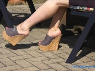 high heel plateau wedges footfetish