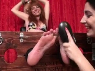 Redhead chick tickled