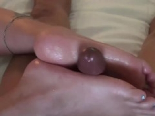 Amazing footjob on our date by Fuck Met