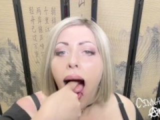 Bondage fun with strapless ring gag! Gag me with your cock!