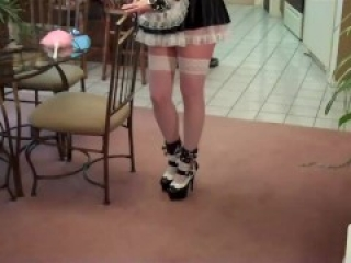 Ordered to dress as French maid and punished for not doing her chores