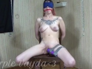 Master chained me to a chair, vibed me and then let me piss all over myself