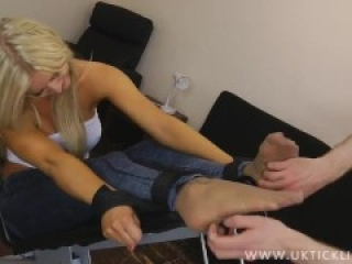 Hot Blonde Gets Strapped Down And Tickled