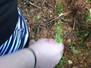 Blowjob In The Woods With Facial And Cum In Mouth