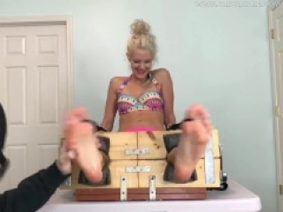 Ashley's Real Tickle Torture in the Stocks - PREVIEW