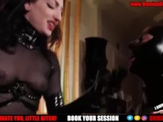 Lates Slave Gets Fucked by Big Red Cock   kink, rough, ass fuck, toys, bondage, pegging, femdom, bab