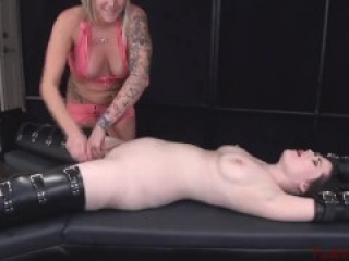 Naked Goth Tickle and Orgasm