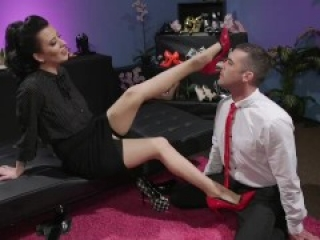 Foot fetish man likes being dominated by a mistress