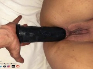 """Painal Punishment, All 11"""" Dildo up in her Ass, Screams and Cry a Lot. 4K"""
