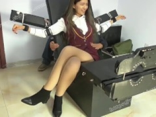 Chinese college girl tickled 3