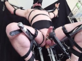 Restrained Slave Anal Milking