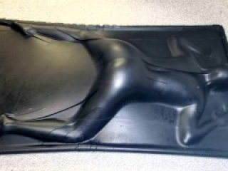 Face Down & Ass Up in a Vacbed - Sexy sub girl gets impact play then cums in a latex Vacbed