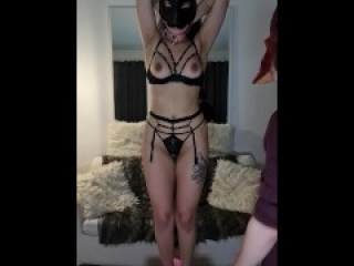 Arab babe loves getting tied up, spanked and used